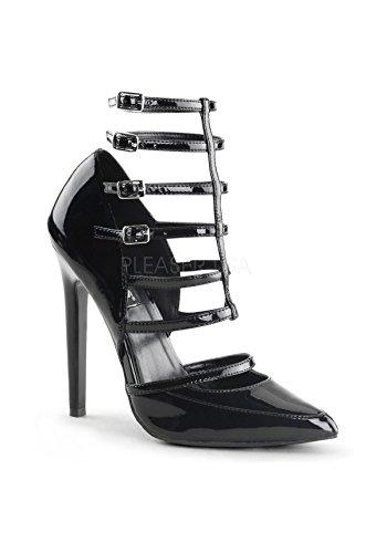 Pleaser SEXY-29 Stiletto Heel d'Orsay Pumps, Lack-Schwarz, 35-44 Blk Pat