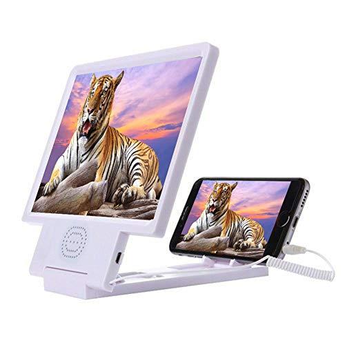 """3D HD At-Lupe 8,5""""Mit Lautsprecher Vergrößerung Within understandably reach Video Klappbare Screen Halterung Ständer Magnifier Für Smartphone & Iphone (Misappropriation-malicious)"""