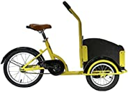 Upten Children tricycle trike Cargo bike with wood basket cycle