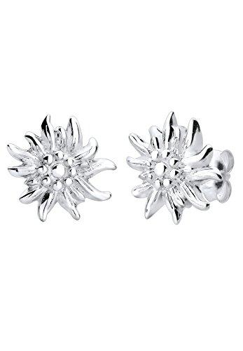 Elli Damen Ohrringe Wiesn Oktoberfest Edelweiss Filigran in 925 Sterling Silber