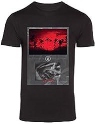 Volcom Blood Stream LW S/S - Camiseta manga corta para hombre, color negro, talla XS