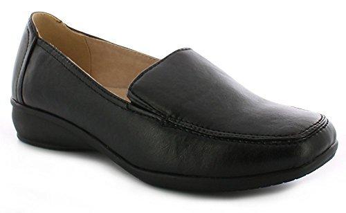 Dr Keller Sally Zapatos Con Cuña Sin Cordones Informal Mujer - 39, Negro, Piel y sintético
