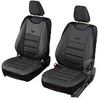 Schwarz-rote Sitzbezüge für MITSUBISHI CANTER Autositzbezug SET 1+2