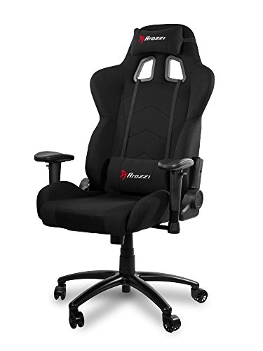 Arozzi inizio silla Gamer, tejido, negro, 53x 47x 133cm