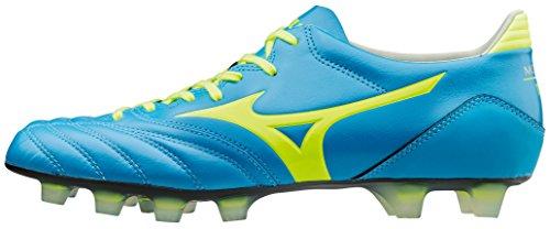 Morelia Neo MD FG Cuir K - Chaussures de Foot - Bleu/Jaune blue