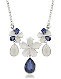 Vk Jewels Wedding Collection Silver Brass Alloy Necklace Set For Women Vknks1292R