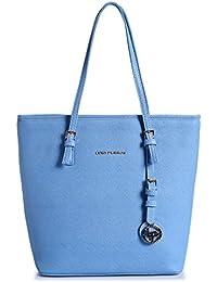 Lino Perros Women's Handbag (Blue) - B076HGZQPD