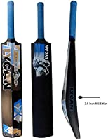 Lycan Stunner Bigger Edge Full Size Hard PVC and Plastic Cricket Bat (2.5-Inch)