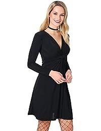 KRISP® Femmes Robe Cache Cœur Elégante Cocktail Soirée