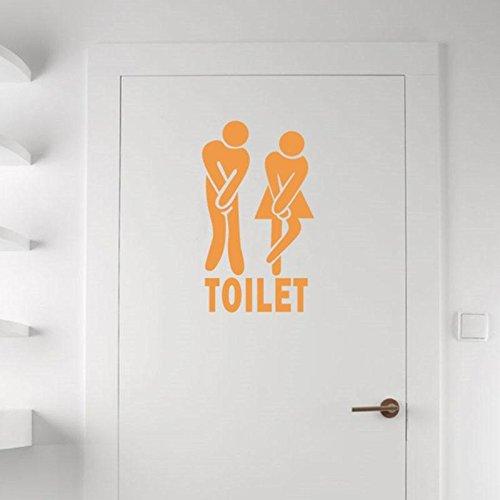 Adhesivo decorativo Calistouk de colores para pared, apto para el baño de la oficina