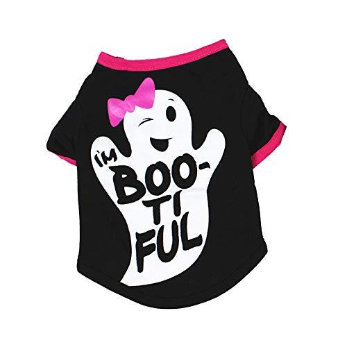 Zonfer Halloween Pet Kostüme lustige Karikatur-Druck-Hemd Weihnachten Cosplay Feste Kleidung für Teddy Hund - Holloween Kostüm Für Zwei