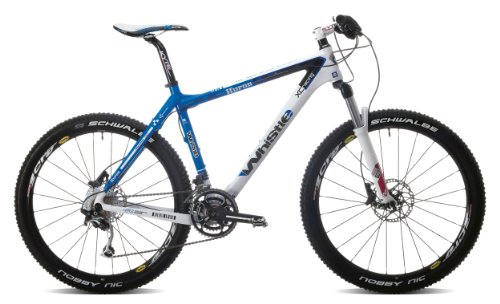 Whistle Huron 1161D 436H 30spd Herren suspenstion Mountain Bike - Blau/Weiß, 40,6 cm