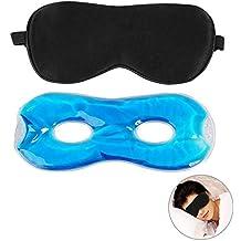 Ojo Máscara De Dormir, BelleStyle Natural Seda Máscara de ojo dormir máscara y terapia de