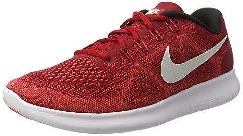 Nike Herren Free Run 2017 Laufschuhe, Rot (Game Red/Off White-Track Red-Total Crims), 45.5 EU (Nike Free Trainer Rot)