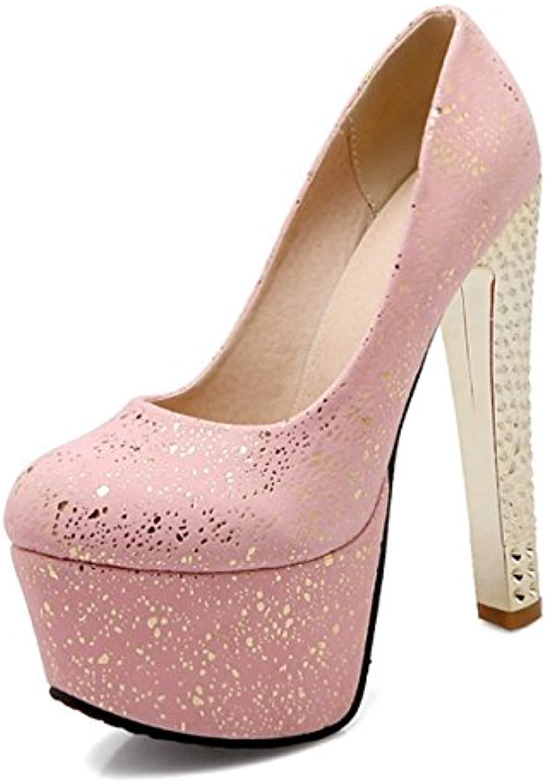 DIMAOL Damenschuhe PU Feder Komfort IM Sommer Neuheit Heels High Heel Schuhe Round Toe für Hochzeit Party & Abendö