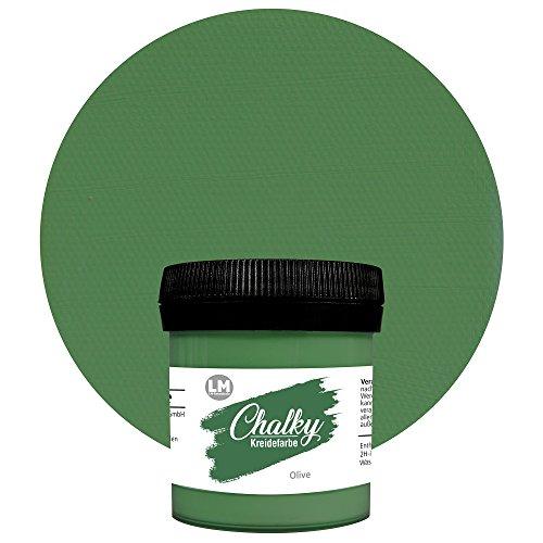LM-Kreativ Chalky Kreidefarbe (Olive) - - Finish Kreide-Farbe, Pastell, Vintage-Look, Shabby-Chic-Look, Land-haus-Stil, Chalky-Sets, ähnlich Viva Decor deckend, 80 ml