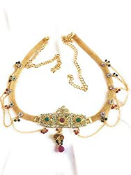 Beautiful d Lcd Stones with Pearl Combination waist chain ,kamarband, belly chain for women for festival/wedding/parties