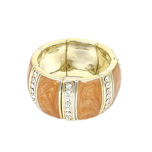 230 x 5mm/9\ x 0.2\ (Girth*T) , Yellow : Generic Plastic Rhinestone Decor Elastic Wrist Ornament Bracelet Bangle