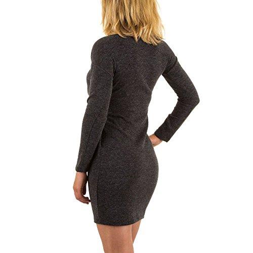 Damen Kleid, RINASCIMENTO STRETCH STRICK KLEID, MKL-13621 Grau