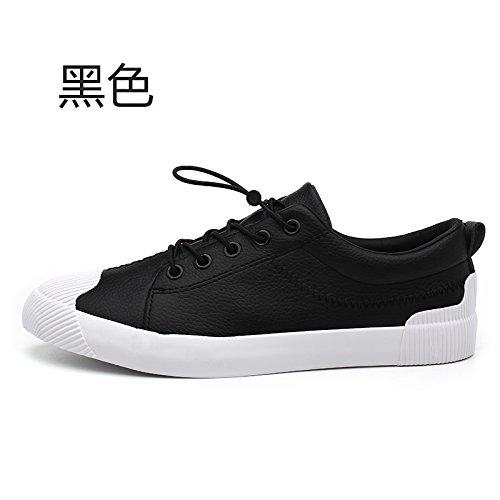 Wuyulunbi @ Primavera Y Otoño Zapatos Blancos Zapatos Bajos Negro
