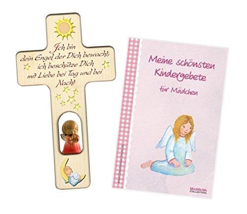 Kinderkreuz Für Mädchen: Kreuz mit Sonne, Mond und Schutzengel - 3