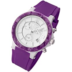 Rougois Pop Series Purple Colorful Silicone Band Watch