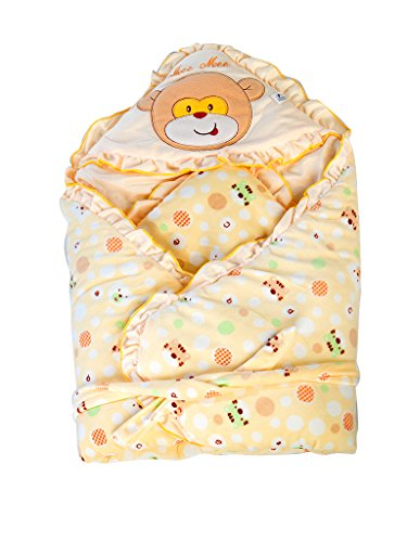 Mee Mee MM-98023C Baby Warm Wrapper cum Blanket with Hood (Yellow)  available at amazon for Rs.839