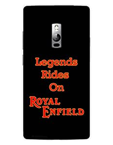 MiiCreations 3D Printed Back Cover for One Plus Two,Legends Rides On Royal Enfield
