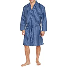 Hombre Liso Tejido Verano Algodón Poliéster Kimono ...