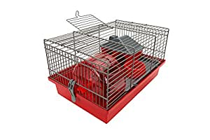 TYROL Frida Cage Rongeurs Equipée 35,5x24x21 cm