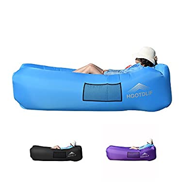 Portable Inflatable Sofa Chair,Air Lounger Sofa Sleeping bag,Ideal for Lounging,Camping,Beach,Fishing,Kids,Parties. - low-cost UK light shop.