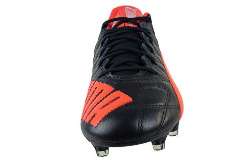 Puma Evospeed Sl Lth Fg, Chaussures de football homme Schwarz (total eclipse-lava blast-white 02)