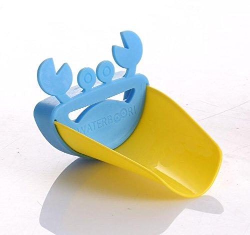 Wasserhahn Extender Kinder Hand Waschmaschine von waterboori (Blau + Gelb) ()