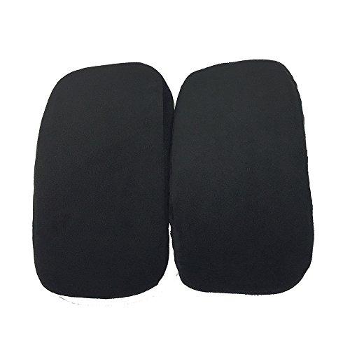 Winbang Memory Foam Pads, 2 Stück Universal Memory Foam Arm Chair Pad für Home Office waschbar therapeutische Armlehne, Ellenbogenstütze, Schwarz - Therapeutische Pad