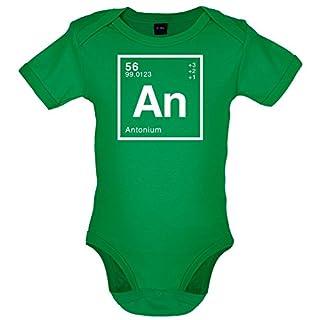 Anton Periodensystem - Lustiger Baby-Body - Leuchtend Grün - 3 bis 6 Monate
