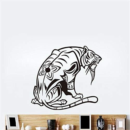 guijiumai Entspannende Tiger Vinyl Wandaufkleber Tier Art Decals Wohnkultur Für Wohnzimmer weiß 87x99 cm -