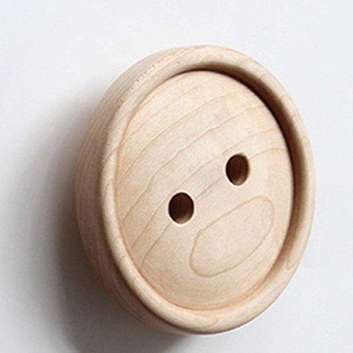 VIOY Regal-Organisator-Behälter-Regal-Teiler für Schränke Lagerregal-Aufbewahrungsbehälter-Kleiderständer Massivholz-Bekleidungsgeschäft verbunden mit Zahnstangen kreative Wand-Knopf-Wand
