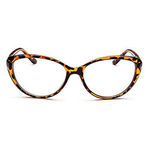 Forepin® Katzenauge Elvis Stil Brille Rahmen 50er 60er Jahre Partybrille Sonnenbrille (Sonnenbrille Rock Retro Leopard)