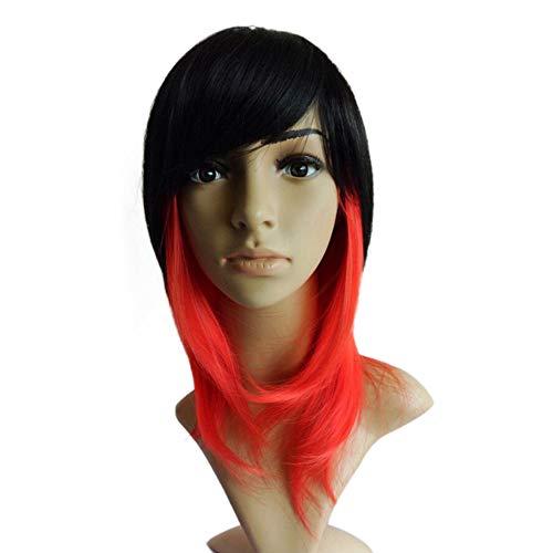 LYHD 10 Zoll Perücken Kurze Hitzebeständige Faser Perücke Cap Menschliches Haar Perücken für Frauen Mädchen Halloween Karneval Party Dance Fancy Dress (Verwendet Fancy Dress Kostüm)