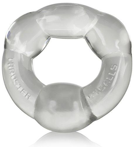Oxballs Thruster Cockring - mit Stimulations Noppen - 1.9 bis 2.5 cm breit - Ø innen- 3 cm, klar transparent (Ausbuchtung Oben)