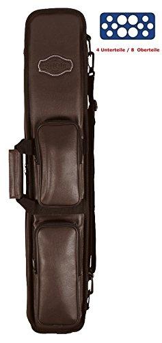 Preisvergleich Produktbild Queue-Tasche BUFFALO für 4 Unterteile / 8 Oberteile Farbe BRAUN