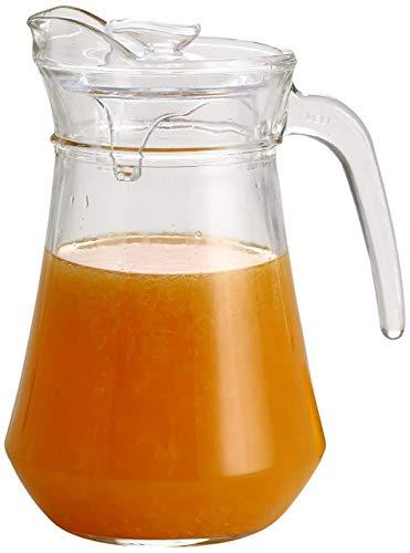 Famacart 100% Crystal Clear Glass Water Jug | 1 Jug (1.3 L) - Ideal for Juice, Iced Tea Beverage Carafe