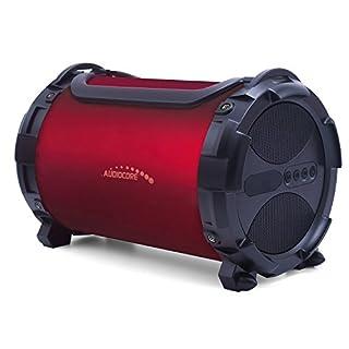 Audiocore AC880 Bazooka Speaker Bluetooth, FM MicroSD Card Burgundy IPX4 2000mAh