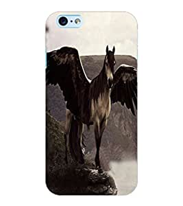 ColourCraft Horse with Feathers Design Back Case Cover for APPLE IPHONE 6