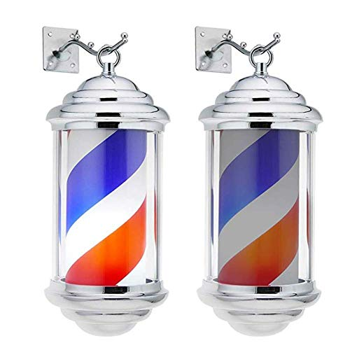 Wsjfc Friseur Pole, Friseursalon Hängelampe Outdoor Beauty Salon Blinker Friseursalon Logo Friseursalon Box Blinker (größe : 38x13cm),38x13cm Mnt Box