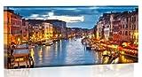 LED Bild - Bilder fertig gerahmt - Kunstdruck auf Wandbild - Leuchtendes LED Bild - LED Wandbild - Model 33 - 100x40 cm