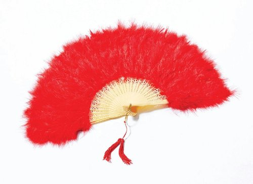 Bristol Novelty ba088 Feder Fan rot, One Size