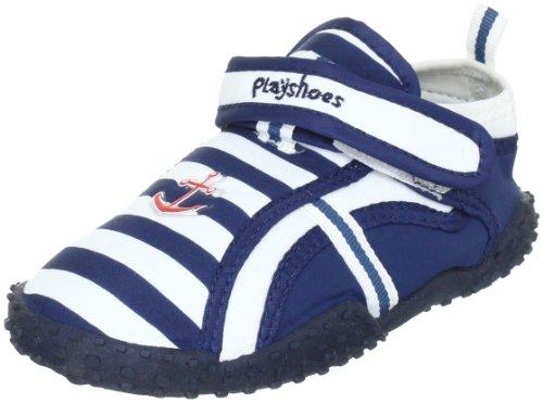 Playshoes Aqua-Schuh Maritim mit höchstem UV Schutz nach Standard 801 174781 - Zapatillas de casa de tela para niño Playshoes