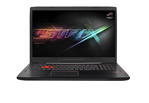 Asus ROG GL702VM-BA322T 43,94 cm (17,3 Zoll mattes FHD) Gaming-Notebook (Intel Core i7-7700HQ, 8GB RAM, 256GB SSD, 1TB HDD, NVIDIA GeForce 1060, Win 10 Home) schwarz
