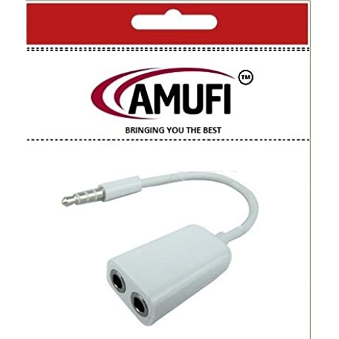 Amufi® 3,5 mm Cable divisor de Audio para altavoces y auriculares